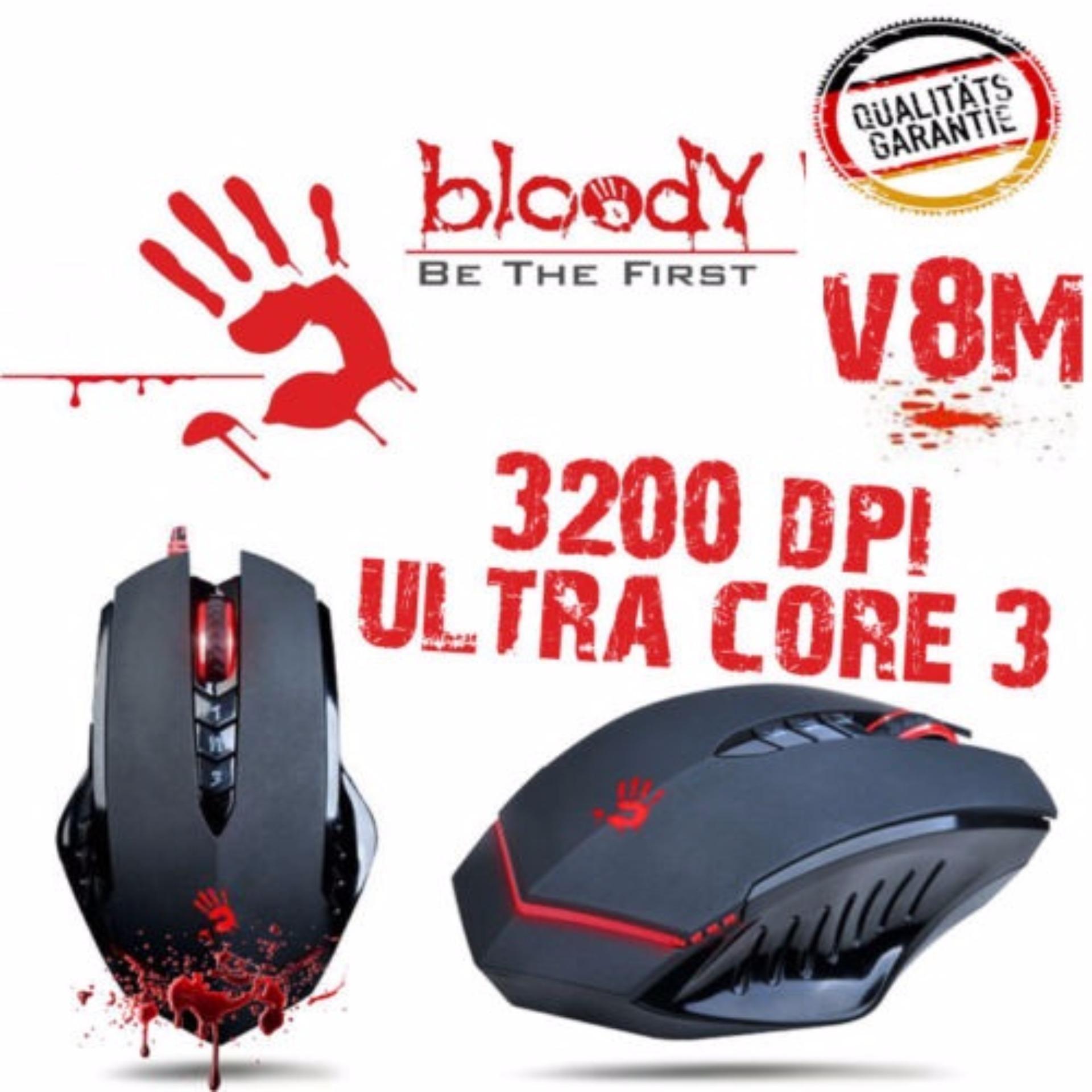 Bloody Xglide Ultra Core 3 Gaming Mouse Type V7ma Daftar Harga V2ma V8ma