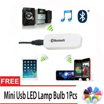 Bluetooth Music 3.5mm Stereo Audio Music Receiver Adapter ForSpeaker Free Mini Usb LED