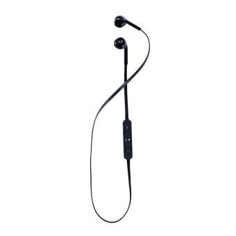 Headset Headphone Source · Bluetooth Nirkabel Stereo Headphone dengan mikrofon olahraga lari Hitam .