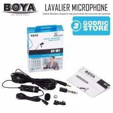 Boya Clip-On Lavalier Microphone BY-M1 for DSLR/Digital Camera/Mirrorless/Smartphone/PC - Hitam