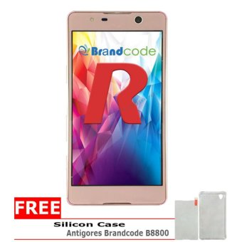 Brandcode B8800 LUMBINI - 8GB - Rose Gold + Gratis Silicon Case, Antigores