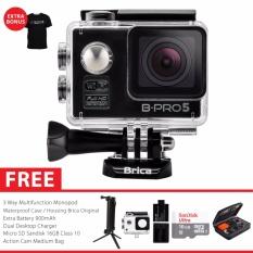 BRICA B-PRO 5 Alpha Edition Paket Combo 3-Way Extreme Full HD 1080p Wifi Action Camera - Hitam