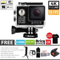 BRICA B-PRO 5 Alpha Edition Paket Combo 3-Way Extreme Full HD 1080p Wifi Action Camera - Hitam