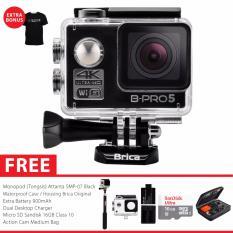 BRICA B-PRO 5 Alpha Edition Version 2 (AE2) 4K Camera Combo Extreme - Hitam + Gratis Paket Bonus