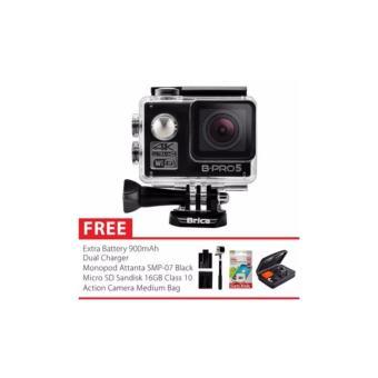 Brica B-PRO 5 Alpha Edition Version 2 (AE2) 4K Camera Combo Extreme Medium - Hitam + Gratis Paket Bonus