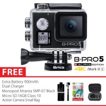 BRICA B-PRO 5 Alpha Edition Version 2S - AE 2S 4K WIFI Action Camera - HITAM Combo Extreme Small