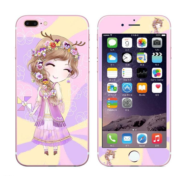 Bulan iphone7plus/7plus kartun apel sebelum dan setelah pelindung layar kaca pelindung layar