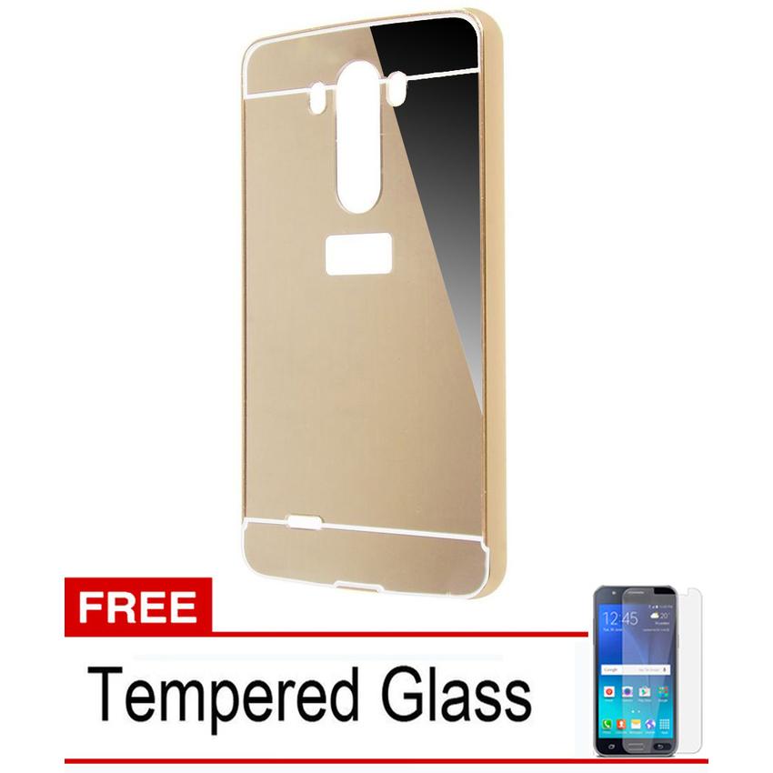 ... Bumper Mirror Untuk LG G3 Stylus - Gold - Free Tempered Glass ...