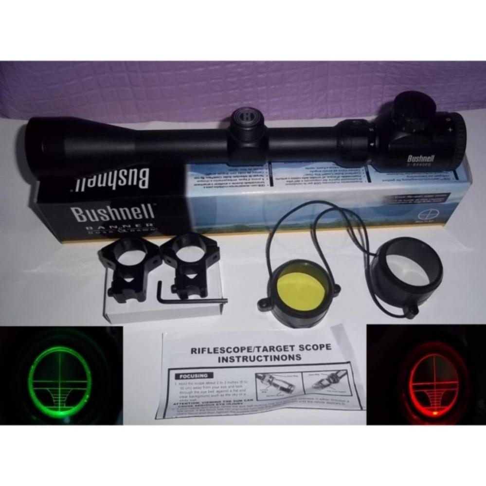Bushnell- Teropong Senapan - Riflescope 3-9x40 EG - Black