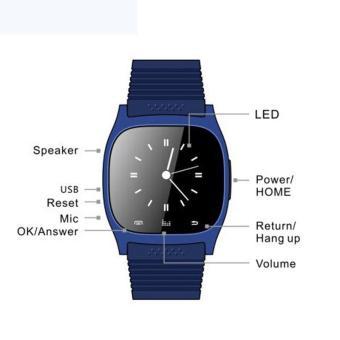 BUYINCOINS M26 Smartwatches Sinkronisasi Bluetooth Ponsel JamTangan Pasangan Cerdas Untuk IOS Android Smartphone - 2