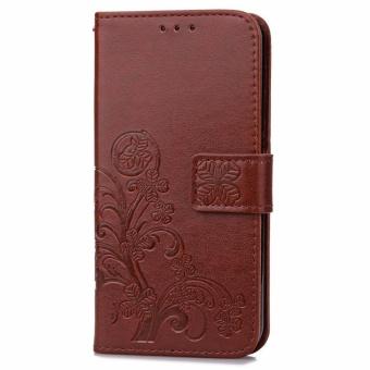 Harga BYT Flower Debossed Leather Flip Cover Case for Xiaomi Redmi 4A intl Terbaru klik gambar