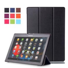 BYT Tablet Leather Flip Cover Case untuk Lenovo Tab 3 10 Bisnis   (TB3-X70F/M) /Tab2 X30F A10-30/Tab2 A10-70F