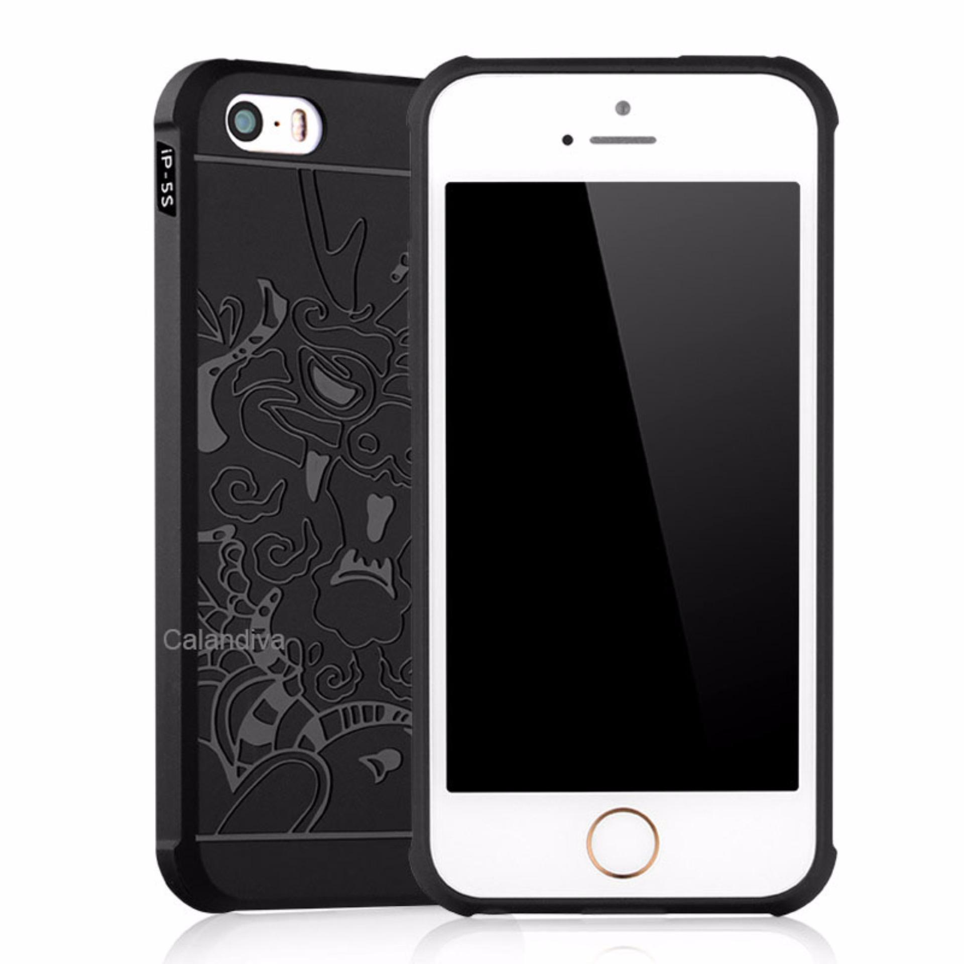 Calandiva Dragon Shockproof Hybrid Case for Iphone 5 / 5s / 5SE 4 .