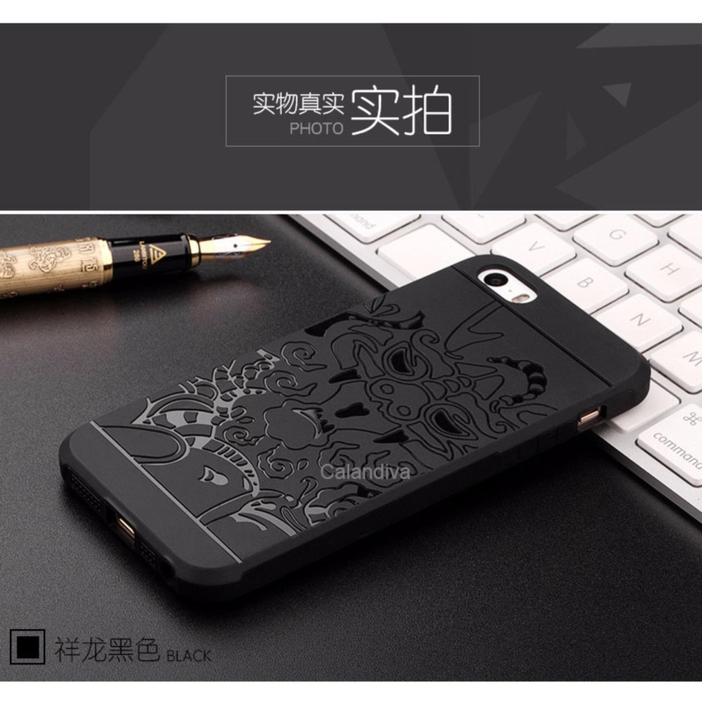 Calandiva Dragon Shockproof Hybrid Case for Iphone 5 / 5s / 5SE 4 .