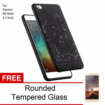 BELI SEKARANG Calandiva Dragon Shockproof Hybrid Case for Xiaomi Mi Note Pro57 inch - Hitam + Rounded Tempered Glass Klik di sini !!!