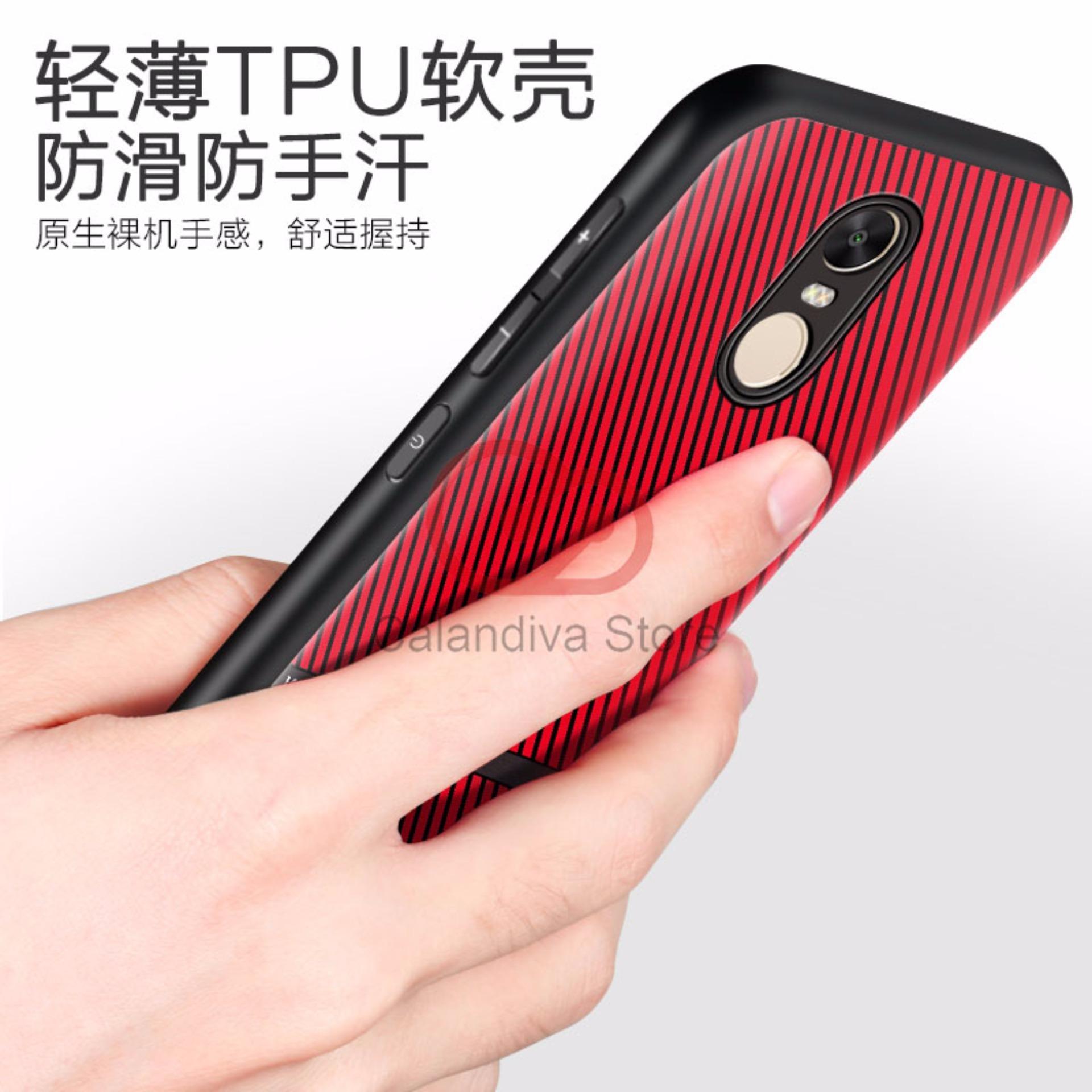 Calandiva Gentlemen Series Shockproof Hybrid Case for Xiaomi Redmi Note 4 Mediatek /