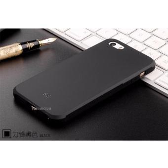 Harga Calandiva Shockproof Hybrid Case for Iphone 5 5s 5 SE 4 Inch Hitam + Rounded