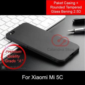 Calandiva Shockproof Hybrid Premium Grade A Softcase for Xiaomi MI 5C Hitam Rounded .