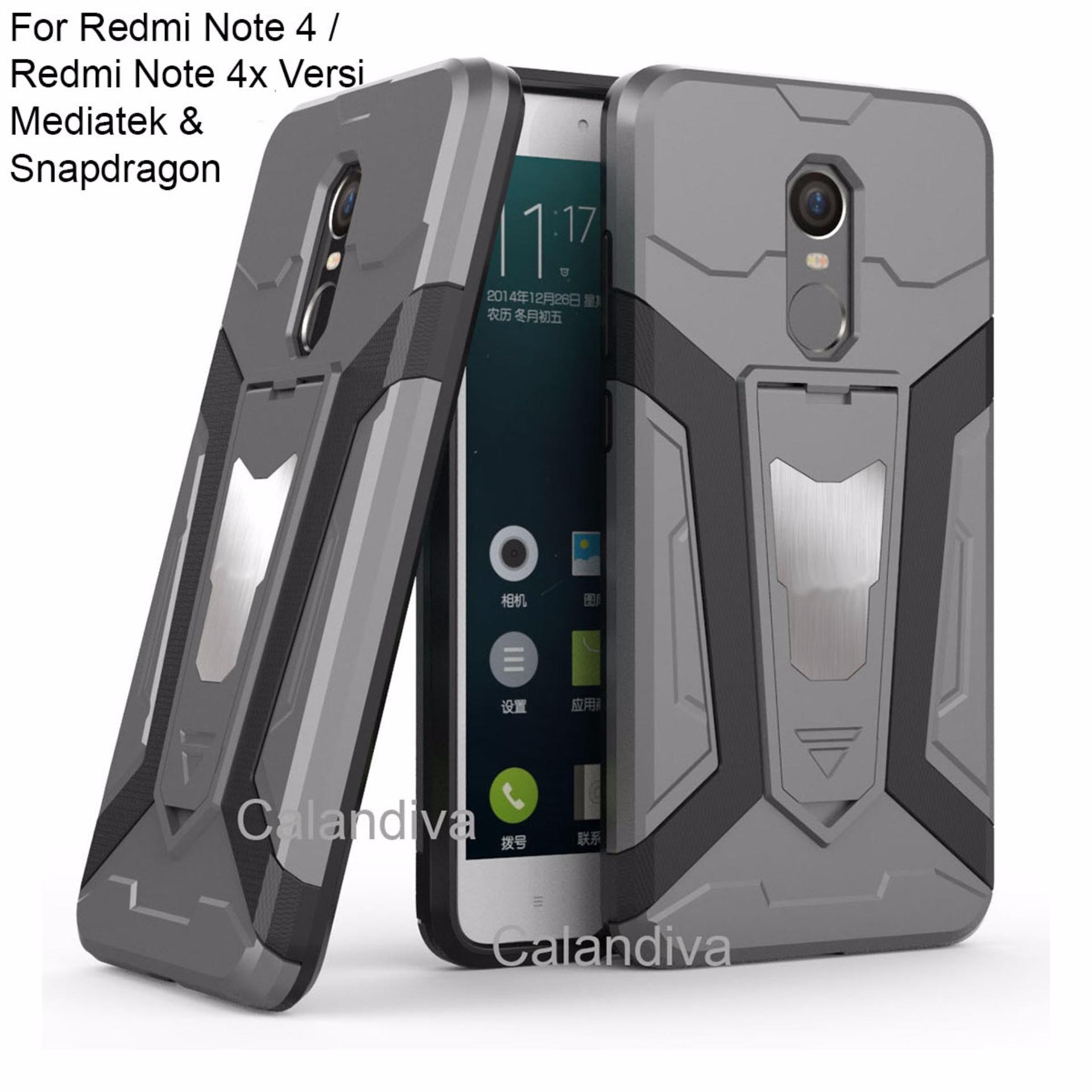 ... Calandiva Transformer Kickstand Slim Armor Hardcase for Xiaomi Redmi Note 4X / Redmi Note 4 Versi ...
