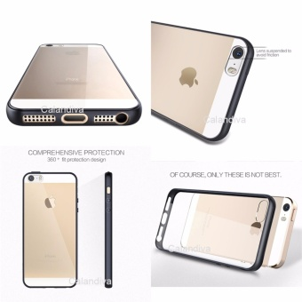 Calandiva Transparent Shockproof Hybrid Premium Quality Grade A Case for Iphone 5 5s .