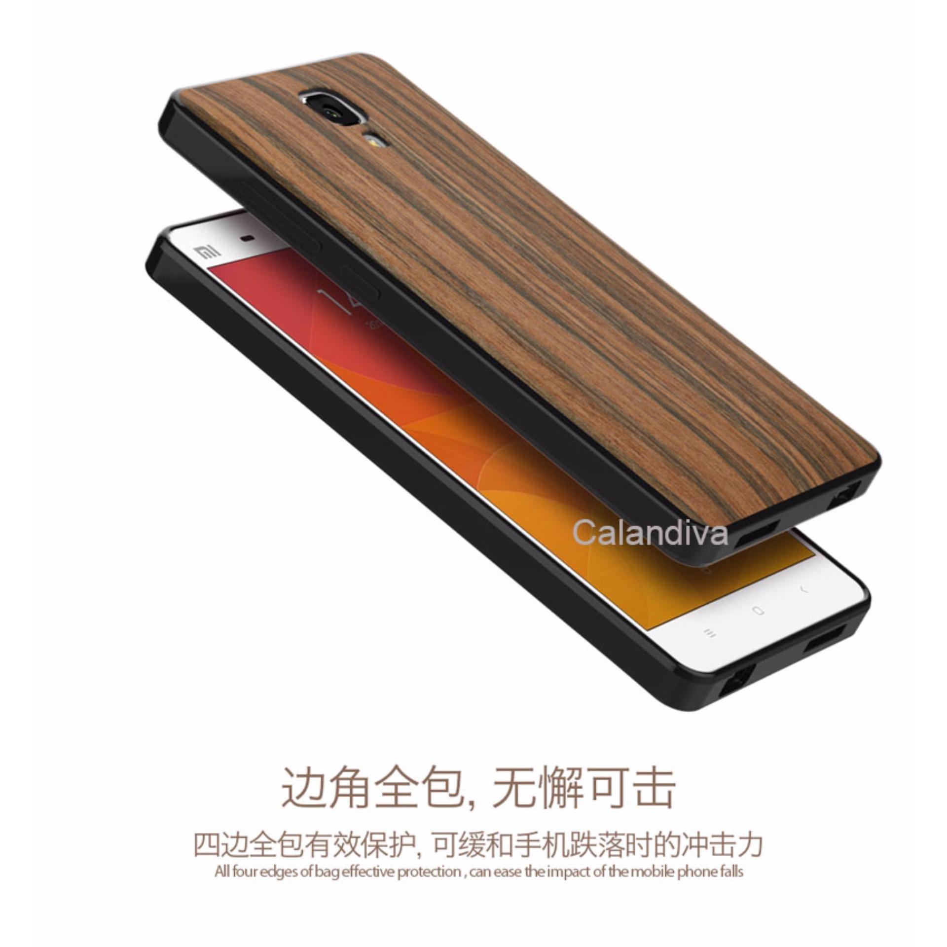 Calandiva Wood Texture Slim Softcase for Xiaomi Mi 4 / Mi 4w -