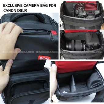 Camera Bag - Zamrud 101 for Canon DSLR, EOS 100D, EOS 700D, EOS 750D, EOS 1200D, EOS 1300D, Etc