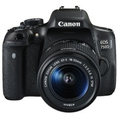 Canon Digital EOS 750D - 24.2 - Lens 18-55mm STM Wifi - Hitam