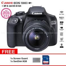 Canon EOS 1300D (Wi-Fi) EF-S 18-55mm III + Screen Guard + SanDisk 8GB