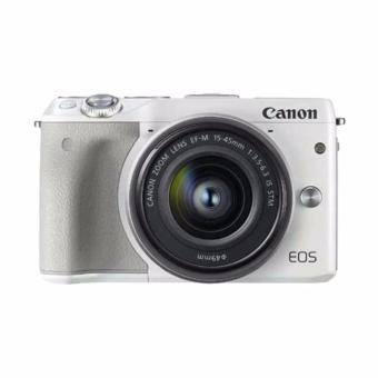 Canon - EOS M3 EF-M15-45 IS STM - Putih (Resmi PT.data script)