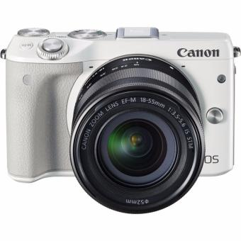 Canon EOS M3 Kit EF-M 15-45mm IS STM - Putih