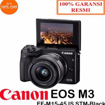 Canon EOS M3 Kit EF-M15-45 IS STM Kamera Digital Mirrorless Garansi Resmi