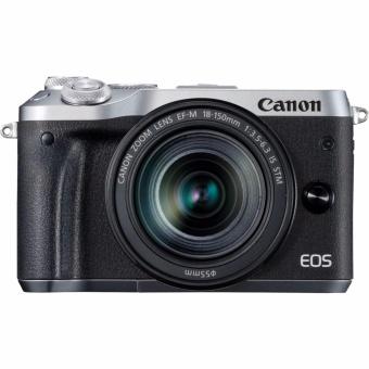Canon EOS M6 Kit 18-150mm - Silver -Kamera Mirrorless