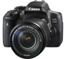 Canon Kamera DSLR EOS 750D Kit 18-135mm IS STM + Free LCD Screen Guard