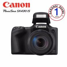 Canon PowerShot SX430 IS - 20.5MP - Hitam (Garansi Resmi)
