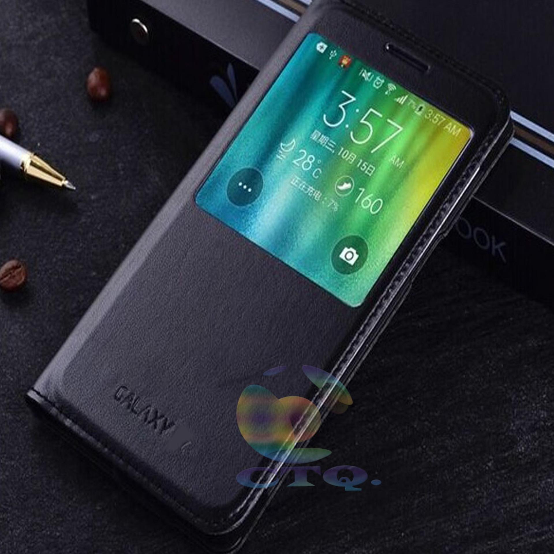 Bandingkan Toko Cantiq Flipcover Kulit S View For Samsung Galaxy E5 E500 Flipshell