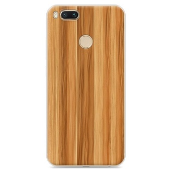 CAPAS for Xiaomi Mi A1 Hard PC Plastic Cover Wooden Wood Grain Pattern Case For Xiaomi
