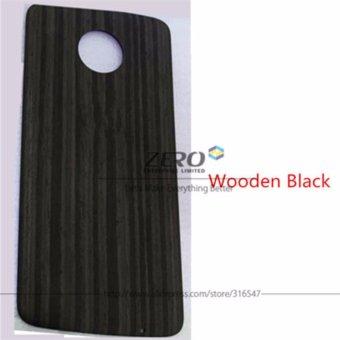 Capas StyleMods Cover for Motorola Moto Z Case for Moto Z Play CaseWood Wooden Pattern Nylon Back Housing Shield(Apricot)-intl