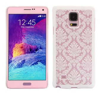 Carved Damask Vintage Pattern Hard Case Cover for Samsung GalaxyNote 4 (White)