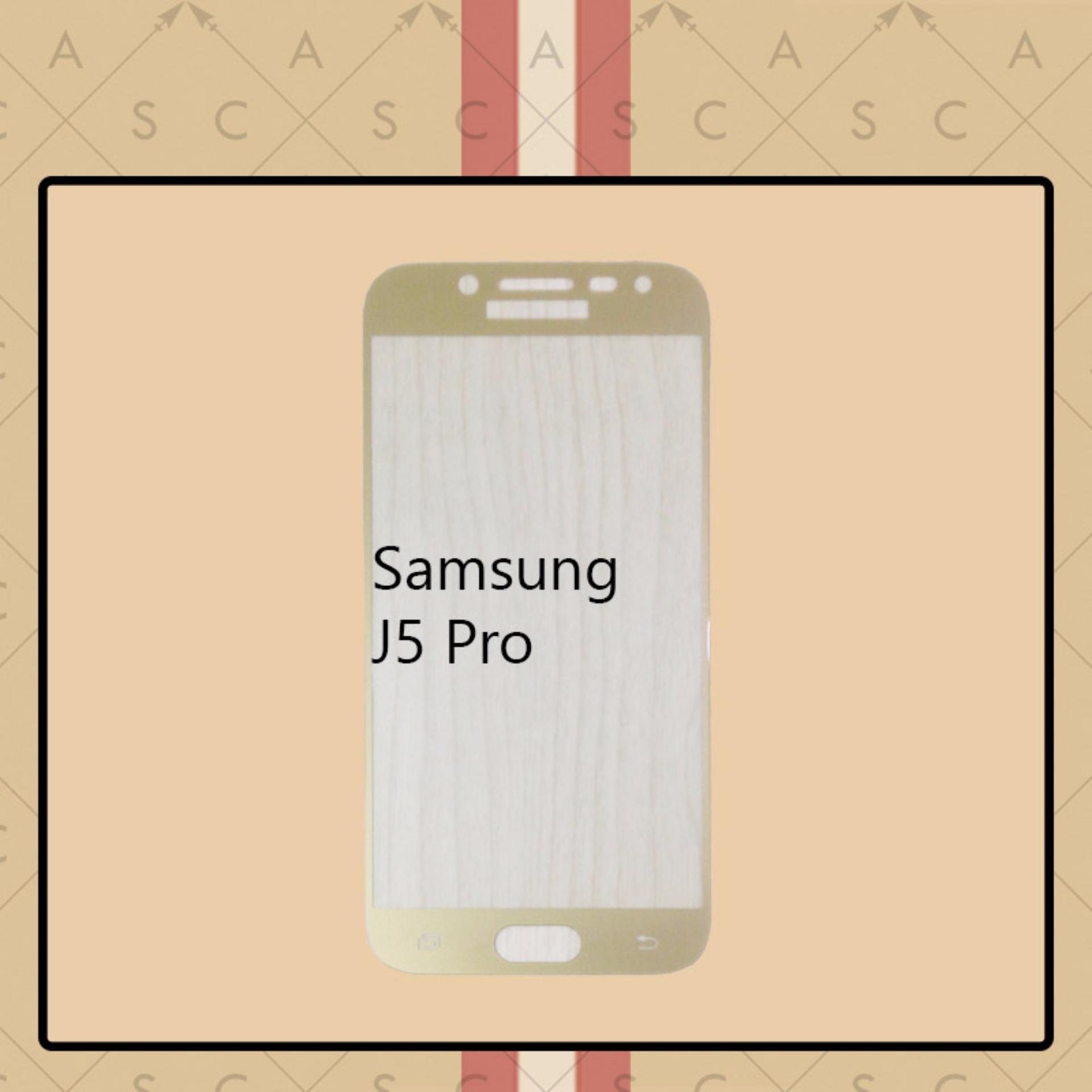 CASA Tempered Glass Warna / Color for Samsung J5 Pro - Gold .