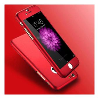 Case 360 Full Body Hardcase Depan Belakang Free Tempered Glass iPhone 6/6S (Merah)