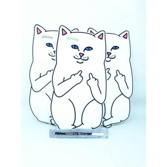 Case 4D karakter white cat kucing Iphone 5 5G 5s softcase soft 3D kartun