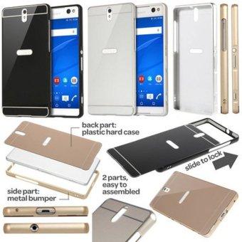 Case Aluminium Bumper Mirror For Oppo Neo 3 R831k Gold Gratis