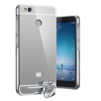 Case Aluminium Bumper Mirror for Xiaomi Redmi 3 Pro - Silver