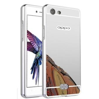 Case Alumunium Bumper With Sleding Mirror Oppo Neo 5 Oppo A31Bumper Oppo Neo5 Back Csse Oppo Neo 5 (Hardcase Oppo A31) - Silver