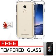 Case Anti Crack Elegant Softcase for Xiaomi Redmi 5A - White Clear + Free Tempered Glass