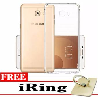 Case Anti-Crack for Samsung Galaxy C9 Pro TPU Softcase (Clear) +Free iRing