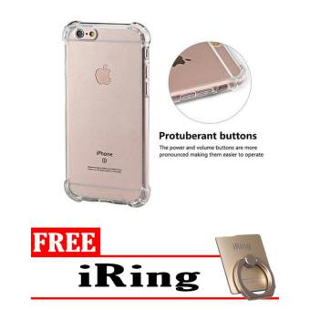 Case Anti Shock / Anti Crack Elegant Softcase for Apple Iphone 5 /5S / 5SE - Clear + Free i-Ring