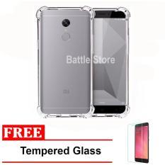 Case Anti Shock / Anti Crack Elegant Softcase for For Xiaomi Redmi Note 4 & Redmi Note 4x + Free Tempered Glass