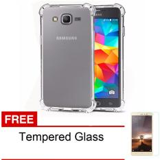 Case Anti Shock / Anti Crack Elegant Softcase for Samsung Galaxy J2 / J200 / J2 2015 / 4G LTE - Clear + Free Tempered Glass