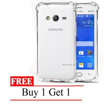 Bandingkan Simpan Case Anti Shock / Anti Crack Elegant Softcase for Samsung Galaxy V / G313 / Ace 4 - Clear + Free Buy 1 Get 1 Anggaran Terbaik